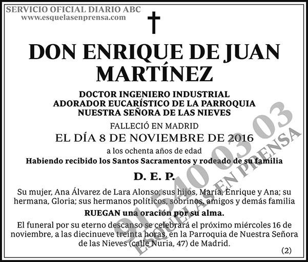 Enrique de Juan Martínez